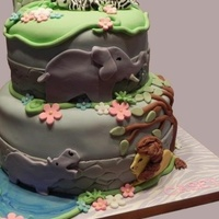 Zoo Themed Birthday   All fondant accents. Thanks for looking! :)