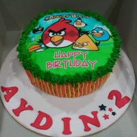 Angry Bird! Red Velvet with Cream Cheese Frosting
