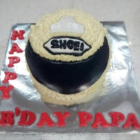 Helmet Cake For Papa