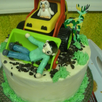 Made For A Friend Three Layers Of Chocolate Cake With Baileys Icing Gumpaste Figures Tractor Is Plastic Toy Made for a friend, three layers of chocolate cake with baileys icing. gumpaste figures, tractor is plastic toy.