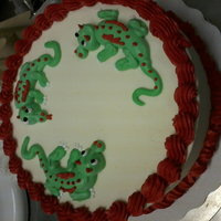Work Cakes Little dragons on an icecream cake!