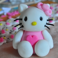 Hello Kitty 3D Hello Kitty cake topper made with gumpaste