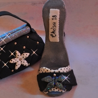 High Heel Shoe And Matching Bag