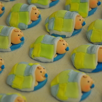 Baby Shower Cupcake Toppers The mommy wanted colours that will state emphatically that it is a BOY