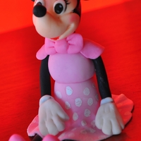 Minnie Mouse 3D Minnie mouse cake topper made with gumpaste