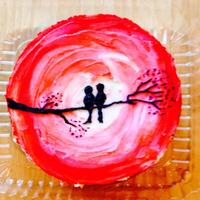 Painted Cakes Love birds