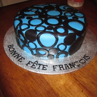 Blue And Black Cake
