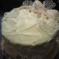 Destination Wedding Bridal Shower Cake