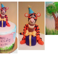 I Made The Tigger Out Of Gumpaste And Fondant The Scene Around The Cake Is All Hand Painted With Food Coloring I made the tigger out of gumpaste and fondant. the scene around the cake is all hand painted with food coloring