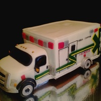 Ambulance Cake All Fondant Ambulance Cake. all fondant