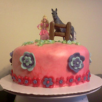 Barbie Cake The Mission From The 4Yr Old Birthday Girl A Strawberry Cake That Was Red With A Pink Barbie And A Horse With Red Blue An Barbie cake! The mission (from the 4yr old birthday girl): A strawberry cake that was red, with a pink Barbie and a horse, with red, blue...