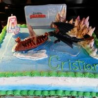 I Made This How To Train Your Dragon Cake For My Friends Nephews 4Th Birthday It Was A Big Hit With Everyone I made this How to train your dragon cake for my friend's nephews' 4th birthday. It was a big hit with everyone!
