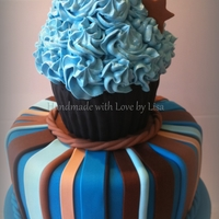 Giant Cupcake For A Men's Birthday