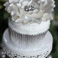 "Wedding Cupcakes  This is a beautiful ""special"" cupcake, made for a friend as a display cake. Would be lovely to have a stand of these as Wedding..."