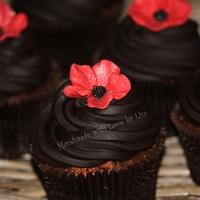 Rich Chocolate Mud Cupcakes  These little delights are made from rich chocolate mud cake with cherry ripe mixed through them, then topped with a dark chocolate ganache...