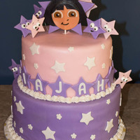Dora Birthday Cake 3 Years-Old Dora Birthday Cake 3 years-oldMarble Cake with Buttercream Icing