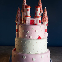 Baby Shower Castle Cake Baby Shower Castle CakeRed Velvet w/ Butter-cream