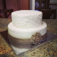 Rustic Wedding Cake Buttercream Frosting Rustic wedding cake. Buttercream frosting