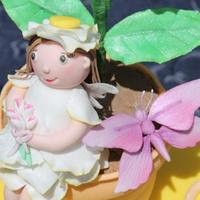 Fairy Butterfly Amp Flower Are All Icing Gum Paste Cake Is Chocolate   Fairy, Butterfly & Flower are all icing. (Gum Paste) Cake is Chocolate.