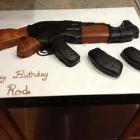 Ak 47 Cake My First Shot At Homemade Chocolate Fondant Turned Out Pretty Well AK-47 cake. My first shot at homemade chocolate fondant. Turned out pretty well.