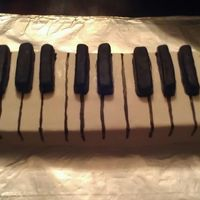 For My Husbands Birthday He Loves To Play Piano 2 9X13 Cakes Cut In Half And Torrted Fondant Covered White Cake With Chocolate Fondant C For my husband's birthday. He loves to play piano. 2 9x13 cakes cut in half and torrted. Fondant covered white cake with chocolate...