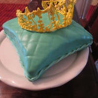 Pillow Cake With Tiara For My Mother In Laws Birthday Because She Is A Queen Yellow Sour Cream Almond Cake With Almond Butttercream Royal Pillow cake with tiara. For my mother-in laws birthday because she is a Queen. Yellow sour cream almond cake with almond butttercream....
