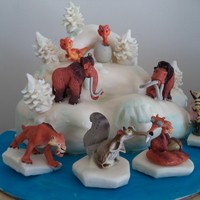 My Sons Ice Age Cake Chocolate Cake Filled With Peppermint Smb And Iced In Ganache And Michelle Fosters Fondant Figurines Were Bought I My sons ice age cake. Chocolate cake filled with peppermint SMB and iced in ganache and Michelle Fosters Fondant. Figurines were bought. (I...