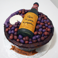 Wine Basket With Wine Bottle Grapes And Cheese Everything Is Edible Made By Jennifer Yarbro Of The Cake Mom Amp Co   Wine basket with wine bottle, grapes, and cheese. Everything is edible. Made by Jennifer Yarbro of The Cake Mom & Co.