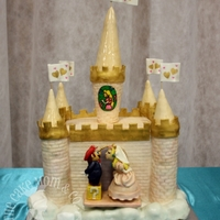 Peach's Castle Groom's Cake  Mario, Peach, & her castle. This was a surprise cake for the groom! Inspired by a cake from Let Them Eat Cake, as requested by the...