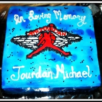 Air Jordan Memorial Cake I made this memorial cake for a 17 year old friend of mine that had passed away, His name was Jourdan and he loved Jordan shoes, in the...