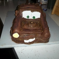 Mater From Cars the first cake i sold! Mater from cars for a birthday