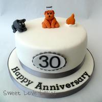 Dog Lovers Anniversary Cake *