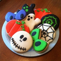 Happy Halloween! A few of the cookies I made for my husband's office