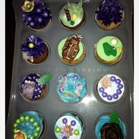 Cupcakes For A Friend's Birthday My first time cupcakes for my friend's birthday.