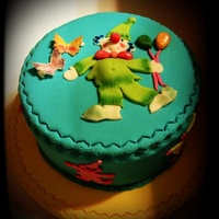 Fondant Clown Cake This cake is made for a kid's birthday