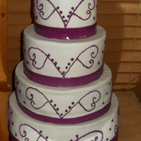 Round Buttercream Wedding Cake