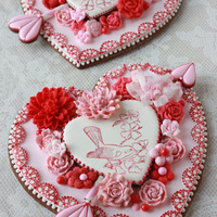 3-D Valentine Cookie Mostly stamped and embossed cookie dough.