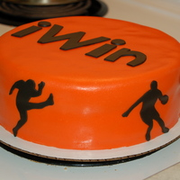 A Birthday Cake I Made For My Friends Teen Daughters Boyfriend It Was For His Birthday He Plays Football Runs Track And Plays Baske A birthday cake I made for my friend's teen daughter's boyfriend. :-) It was for his birthday. He plays football, runs track and...