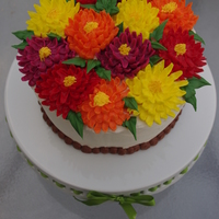 "Chrysanthemum Birthday Cake Made this cake for 2 dear friends. According to the language of flowers, the chrysanthemum means ""you're a wonderful friend&quot..."