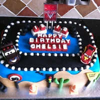 Disney Cars Cake!! A cake made for a friends 18th
