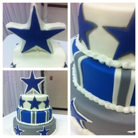Dallas Groom's Cake This is a cake i made for my new brother in laws grooms cake. he's a cowboys fanatic. and thoroughly enjoyed the rice crisy star...