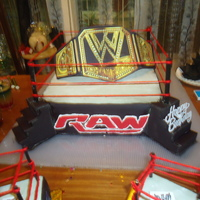 Wwe Cake The Wwe Title On The Ring wwe cake The wwe title on the ring