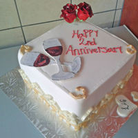 Anniversary Moments.... Made this cake for a surprise anniversary cake