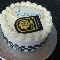 Police Badge Cake This was made for a Police officer..Its red velvet cake with Fresh Cream