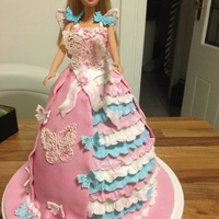 My First Doll Cake...zoe's 2Nd Birthday   Barbie butterfly cake