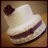 Purple Ruffle Cake   Purple Ruffle Cake