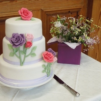 Country Rose Wedding Cake Country Rose Wedding Cake