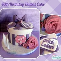 40Th Birthday Hatbox Cake