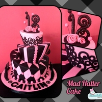 18Th Birthday Mad Hatter Cake