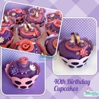 40Th Birthday Cupcakes - Shoes & Roses